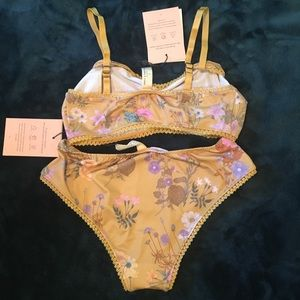 Spell & The Gypsy Collective Intimates & Sleepwear - Wild bloom bralette and bloomers NWT small
